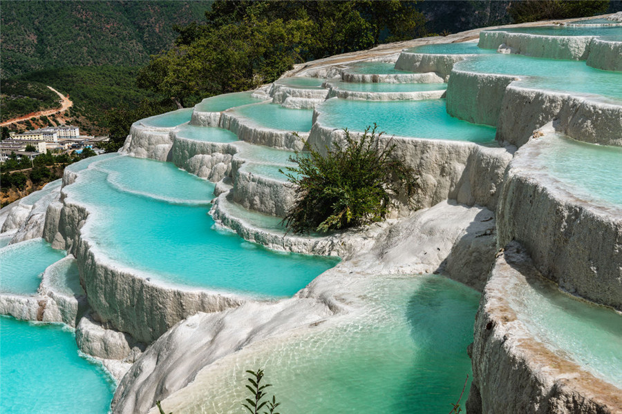 Baishuitai (White Water Terraces) in Shangri-la, Diqing