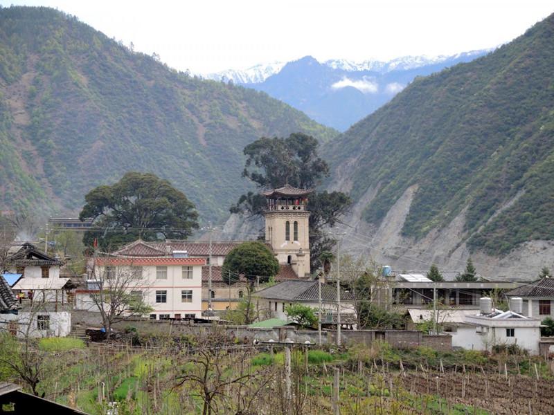 Cizhong Village in Deqin County, Diqing
