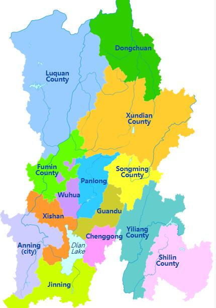 Yunnan Administrative Map