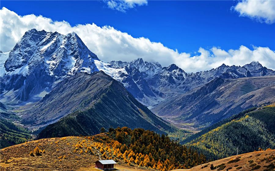 Baima Snow Mountain Pass in Deqin County, Diqing