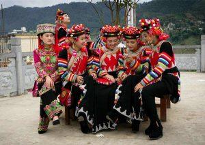 Dongmao Hani Folk Custom Park in Lvchun County, Honghe
