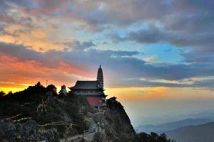 Jizu Mountain in Binchuan County, Dali