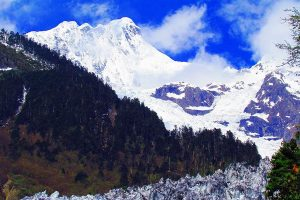 Mingyong Glacier of Meili Snow Mountain, Diqing