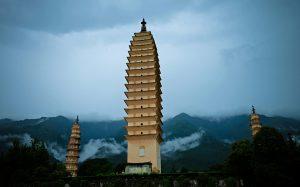 The Three Pagodas and Chongsheng Monastery in Dali