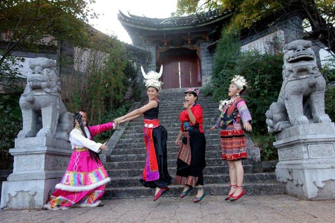 Wenchang Palace in Lijiang Old Town
