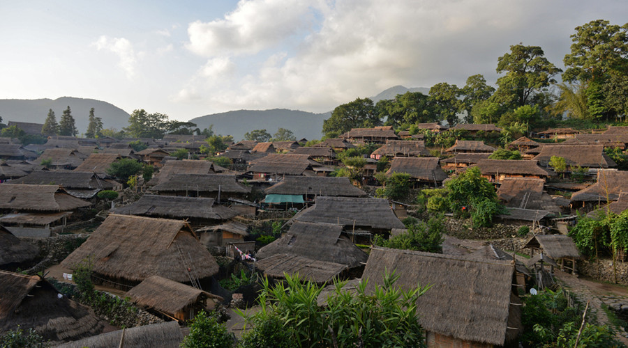 Wengding Village in Cangyuan County, Lincang