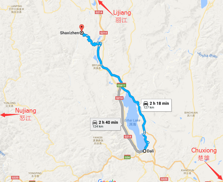 Dali City-Shaxi Old Town Transportation: By Long-distance Bus and By Minibus