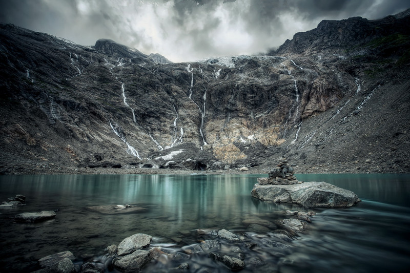 Ice Lake of Yubeng Village in Meili Snow Mountain, Diqing