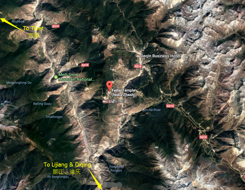 Location Map of Feilaisi in Yunnan