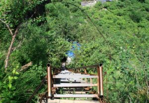 The Sky Ladder of The Middle Section of Tiger Leaping Gorge