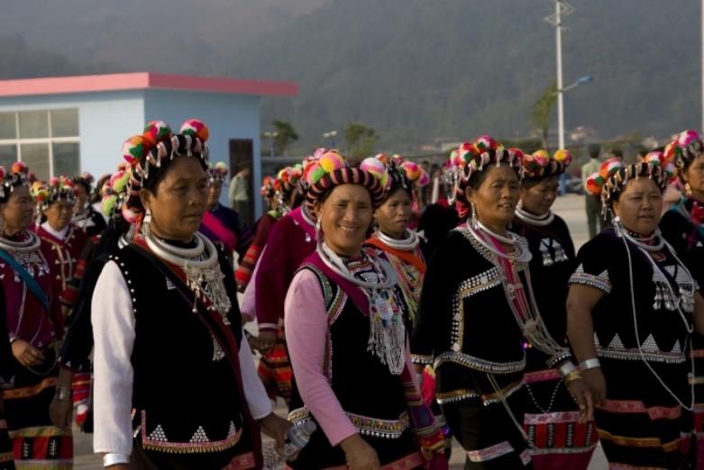 Monihei Carnival of Wa Ethnic Minority in Cangyuan County, Lincang