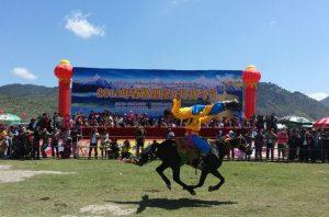 The Horse Racing Festival of Tibetan Minority in Shangrila, Diqing
