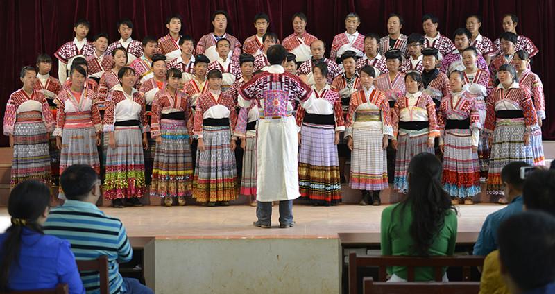 Miao Ethnic Choir of Xiaoshuijing Village in Fumin County, Kunming
