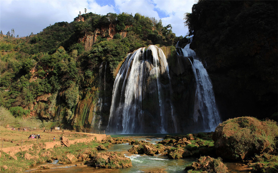 Dadieshui Waterfall in The Stone Forest, Kunming