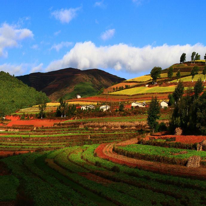 Huagou Village of Dongchuan Red Land, Kunming