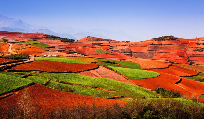 Qicaipo (Seven-Color Slope) of Dongchuan Red Land, Kunming