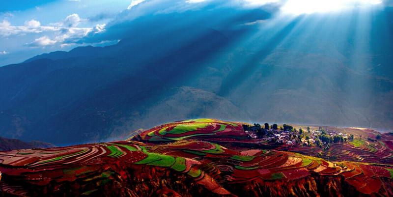 Luoxiagou Scenic Spot of Dongchuan Red Land, Kunming