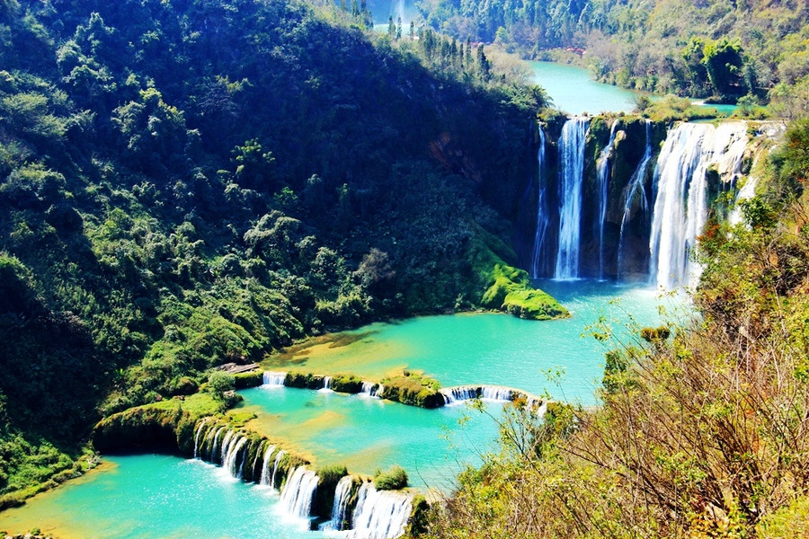 Nine Dragons Waterfall in Luoping County, Qujing