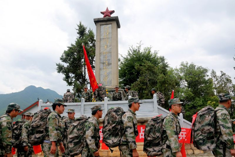 The Red Army's Long March Memorial Monument in Shigu Town, Lijiang