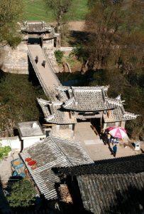 The Iron Chain Bridge in Shigu Town, Lijiang