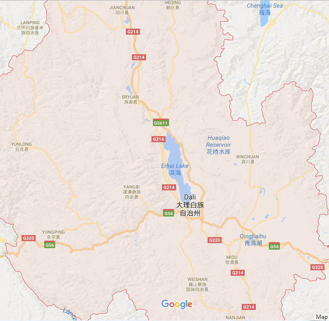 Region Map of Dali City