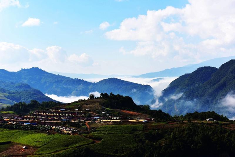 The Cloud Sea Wonders of Awa Mountain in Cangyuan County, Lincang