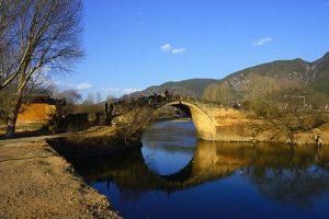 Yujin Bridge in Shaxi Old Town, Dali