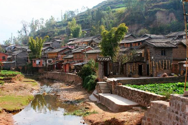 Langjing Ancient Village in Lufeng County, Chuxiong
