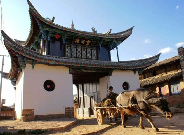 Lianxiangguan Ancient Village in Lufeng County, Chuxiong