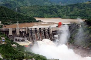 Manwan Hydropower Station between Jingdong and Yunxian