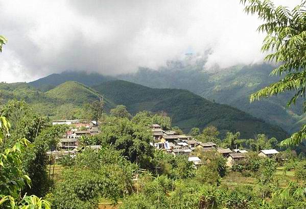 Banggai Village of Xibanshan Tea Mountain in Mengku Town, Lincang