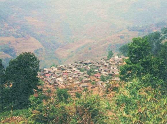 Bingshan Dazhai Village of Xibanshan Mountain in Mengku Town, Lincang
