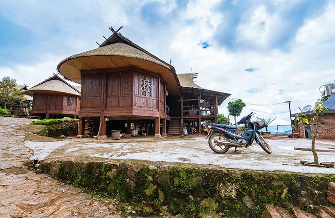 Bohang Wa Ethnic Village in Ximeng County, Puer