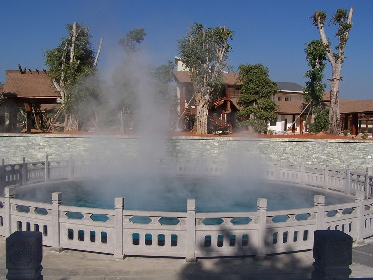 Dihai Hot Spring in Ruili City, Dehong