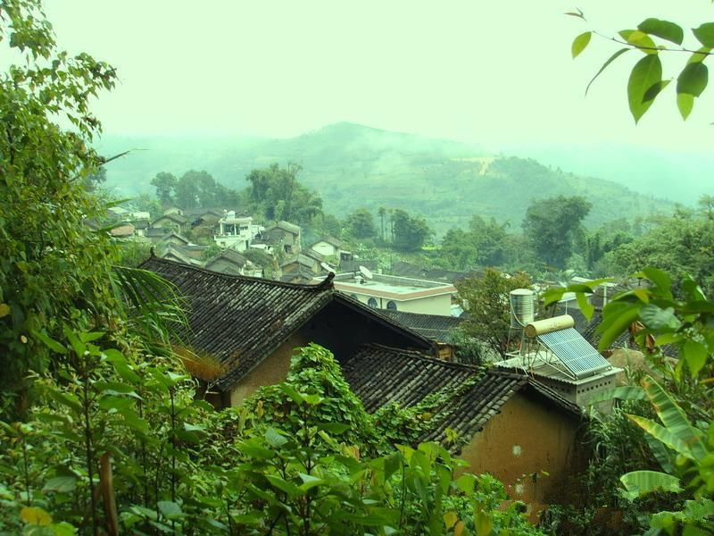 Gongnong Village and Tea Plantation of Xibanshan Mountain in Mengku Town, Lincang