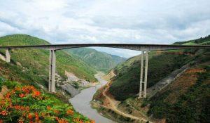 Honghe River Bridge in Yuanjiang County, Yuxi
