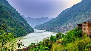 Jinsha River in Suijiang County, Zhaotong