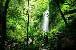 Moli Waterfall in Ruili City, Dehong
