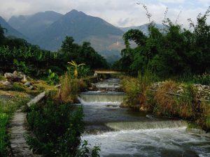 Nanen Waterfall in Xinping County, Yuxi