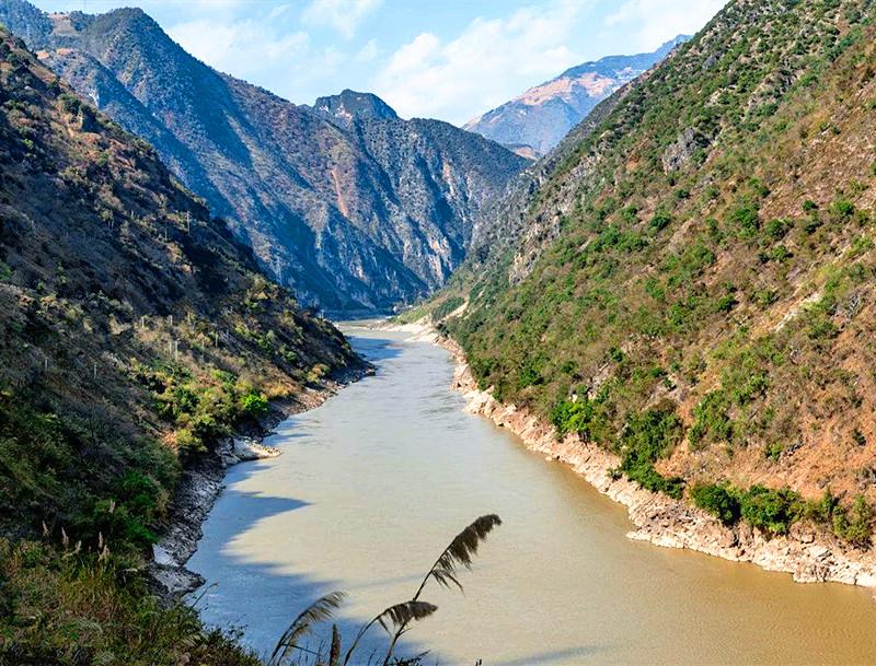 Nujiang River in Yongde County, Lincang