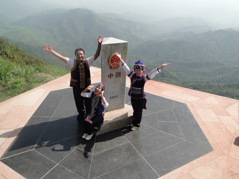 One Place Bordering Three Countries in Jiangcheng County, Puer