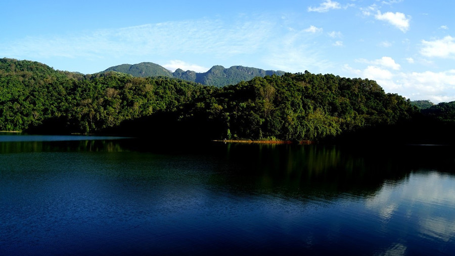 Peacock Lake in Mangshi City, Dehong