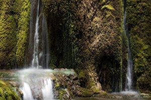 Qicai Waterfalls of Niru Village in Shangri-La, Diqing