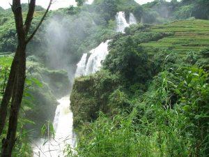 Sanla Waterfall in Guangnan County, Wenshan