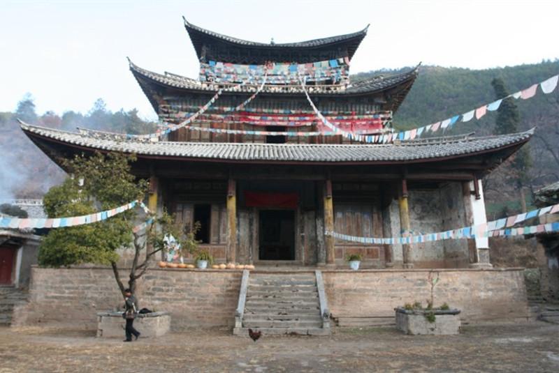 Shouguo Temple in Weixi County, Diqing