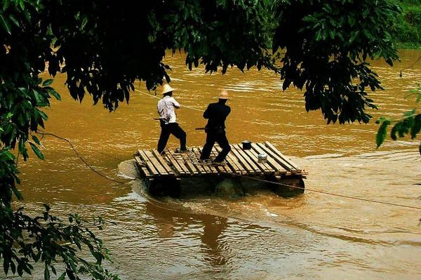 Tuoniangjiang River in Funing County, Wenshan