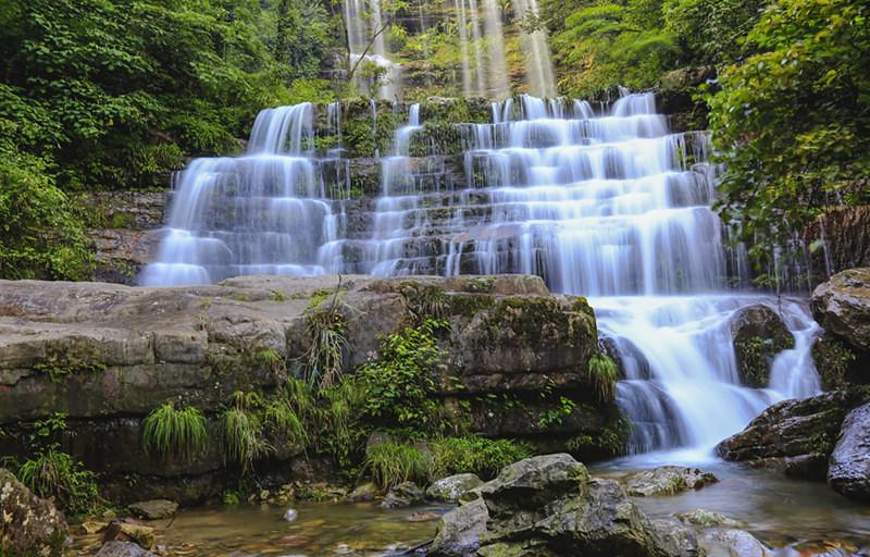 Waterfalls of Huanglianhe River in Daguan County, Zhaotong