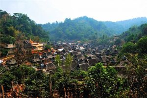 Wengji Village in Lancang County, Puer