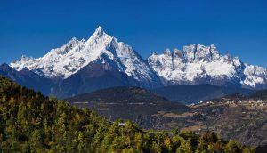 Wuguan Peak of Kawa Karpo Meili Snow Mountain