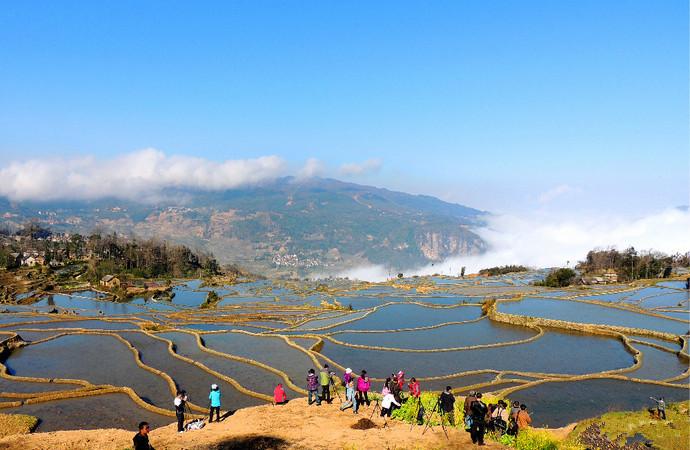 Aichun Village in Yuanyang County, Honghe
